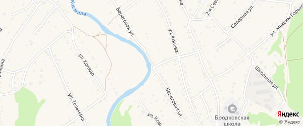 Береговая улица на карте села Павловска с номерами домов