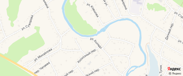 Улица Колядо на карте села Павловска с номерами домов