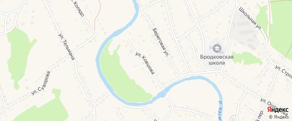 Улица Ковшова на карте села Павловска с номерами домов