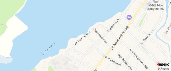 Улица Мамонтова на карте села Павловска с номерами домов
