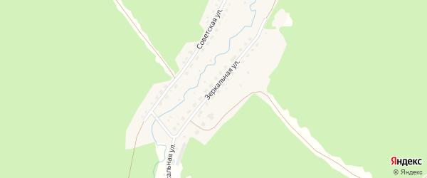 Зеркальная улица на карте села Павловска с номерами домов