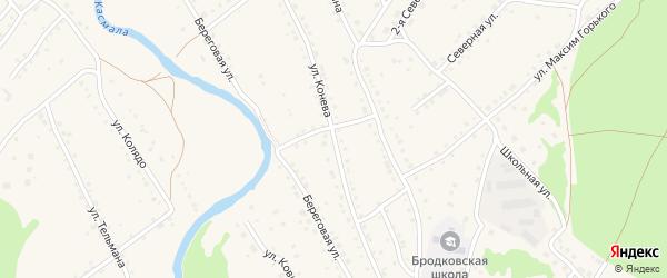 Улица Конева на карте села Павловска с номерами домов