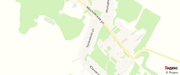 Урожайная улица на карте Зеленого поселка с номерами домов