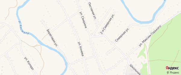Улица Свирина на карте села Павловска с номерами домов