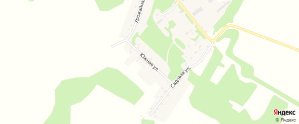 Южная улица на карте Зеленого поселка с номерами домов