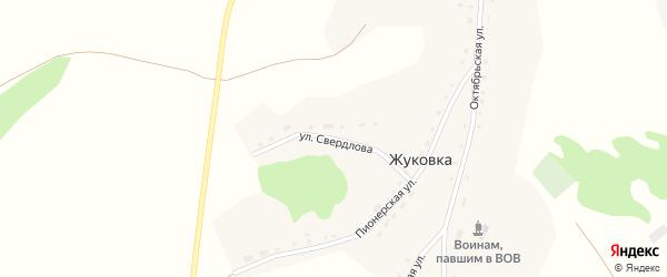Улица Свердлова на карте села Жуковки с номерами домов