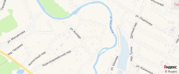 Комсомольский переулок на карте села Павловска с номерами домов