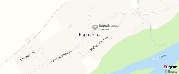 Степная улица на карте поселка Воробьева с номерами домов