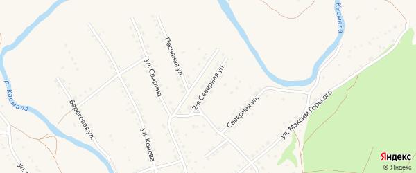 2-я Северная улица на карте села Павловска с номерами домов