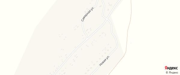 Зеленый переулок на карте села Безголосово с номерами домов