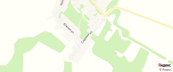 Садовая улица на карте Зеленого поселка с номерами домов