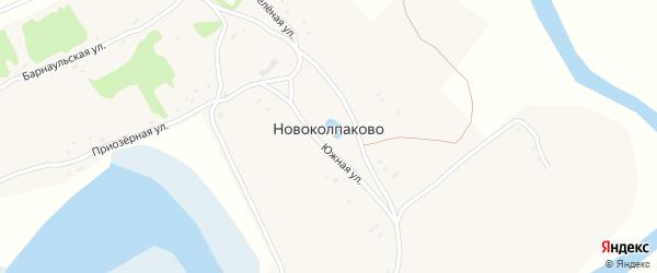 Зеленая улица на карте села Новоколпаково с номерами домов