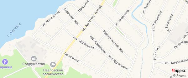 Переулок Ядренцева на карте села Павловска с номерами домов