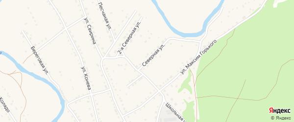 Северная улица на карте села Павловска с номерами домов