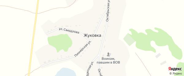 Октябрьская улица на карте села Жуковки с номерами домов
