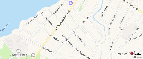 Коммунарский переулок на карте села Павловска с номерами домов