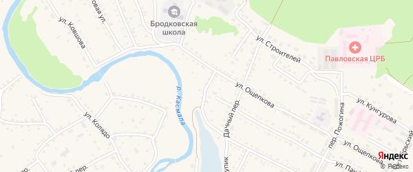 Бродковский переулок на карте села Павловска с номерами домов