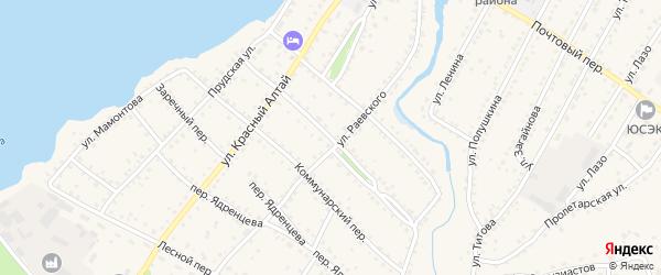 Переулок Голованова на карте села Павловска с номерами домов