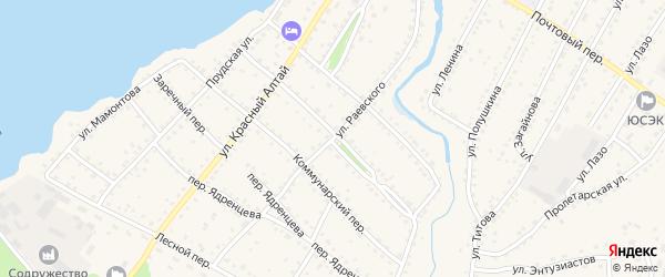 Улица Раевского на карте села Павловска с номерами домов