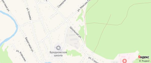 Школьная улица на карте села Павловска с номерами домов