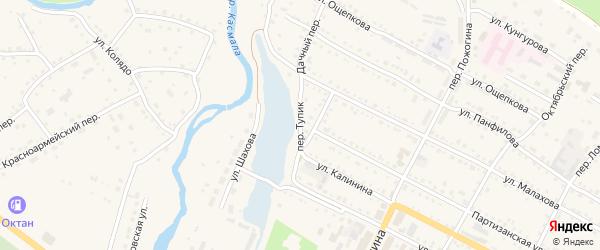 Переулок Тупик на карте села Павловска с номерами домов