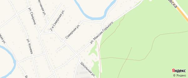 Улица М.Горького на карте села Павловска с номерами домов