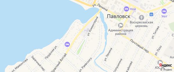 Улица Коминтерна на карте села Павловска с номерами домов
