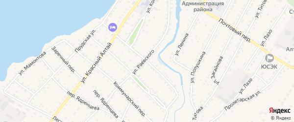 Фунтовский переулок на карте села Павловска с номерами домов