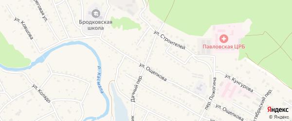 Водопроводная улица на карте поселка Сдт Шинник-2 с номерами домов