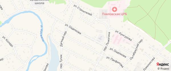 Улица Ощепкова на карте села Павловска с номерами домов