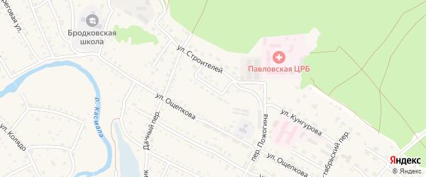 Юбилейная улица на карте села Павловска с номерами домов