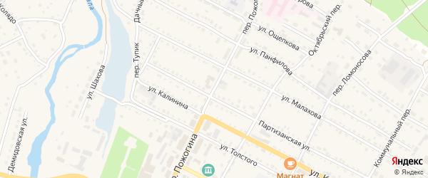 Переулок Пожогина на карте села Павловска с номерами домов