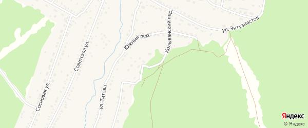 Колыванский переулок на карте села Павловска с номерами домов