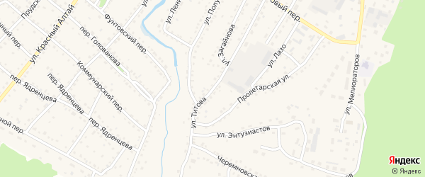Улица Титова на карте села Павловска с номерами домов