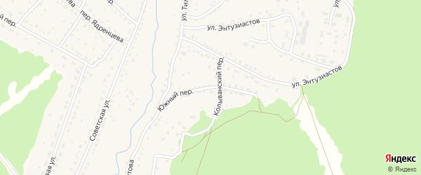 Южный переулок на карте села Павловска с номерами домов