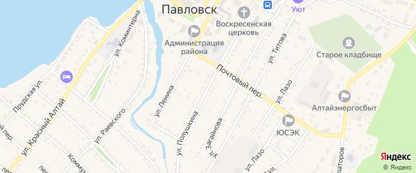 Улица Полушкина на карте села Павловска с номерами домов