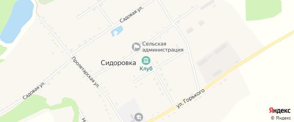 Новая улица на карте села Сидоровки с номерами домов