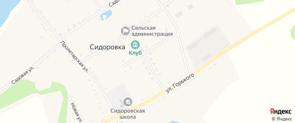 Молодежная улица на карте села Сидоровки с номерами домов