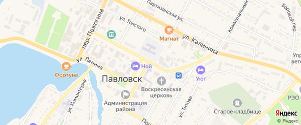 Пионерская улица на карте села Павловска с номерами домов