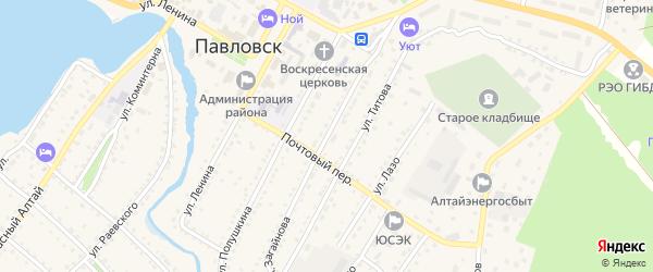 Улица Загайнова на карте села Павловска с номерами домов