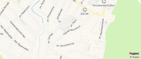 Пролетарская улица на карте села Павловска с номерами домов