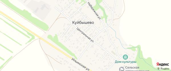Центральная улица на карте села Куйбышево с номерами домов
