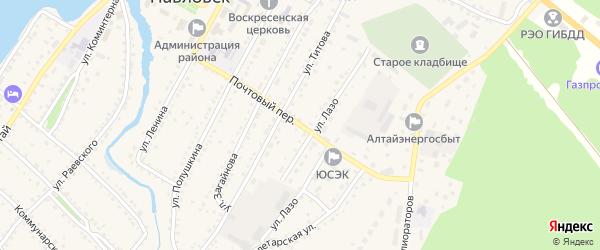 Почтовый переулок на карте села Павловска с номерами домов