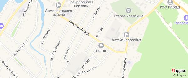 Улица Лазо на карте села Павловска с номерами домов