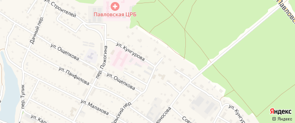 Улица Кунгурова на карте села Павловска с номерами домов