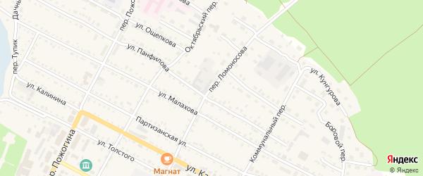 Переулок Ломоносова на карте села Павловска с номерами домов