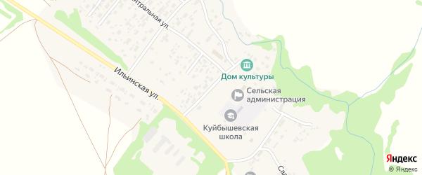 Школьный переулок на карте села Куйбышево с номерами домов