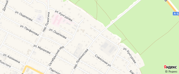 Улица Шумилова на карте села Павловска с номерами домов