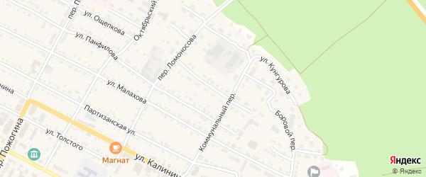 Совхозная улица на карте села Павловска с номерами домов
