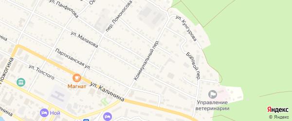 Коммунальный переулок на карте села Павловска с номерами домов